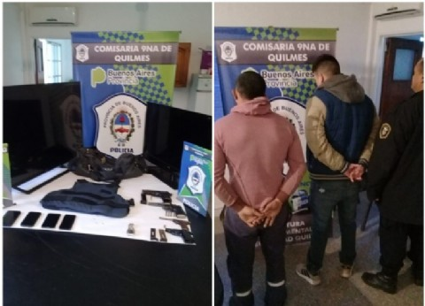 """Desbaratan banda que cometía """"entraderas"""" en Quilmes: les secuestran varias armas y elementos robados"""