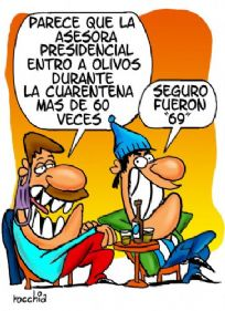 Parece que la asesora presidencial entro a Olivos