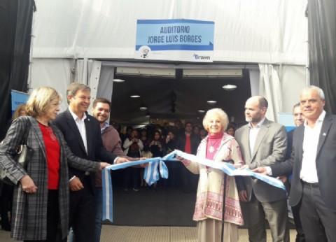 Cascallares y Estela de Carlotto inauguraron la cuarta edición de la Feria Internacional del Libro de Almirante Brown