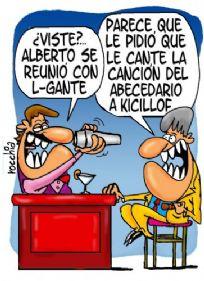 ¿Viste? Alberto se reunió con L-Gante