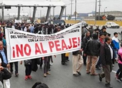 Fuerte protesta de usuarios viales contra el sistema de peajes