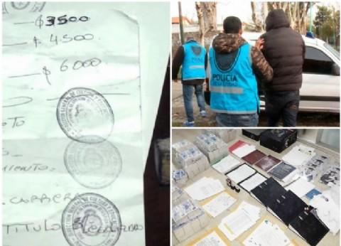 Cae banda que falsificaba títulos secundarios y universitarios y los cobraba hasta 20.000 pesos