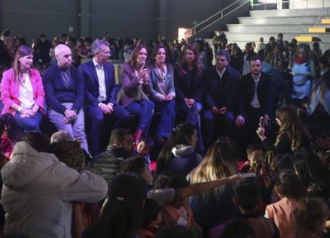 Vidal acompañó a Macri y Larreta en el festejo por los 10 años de los Centros de Primera Infancia