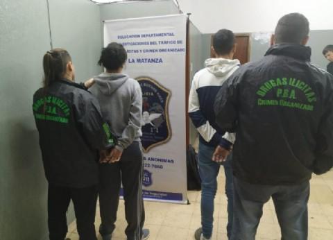 Detienen a acusados de vender droga en un asentamiento de La Matanza