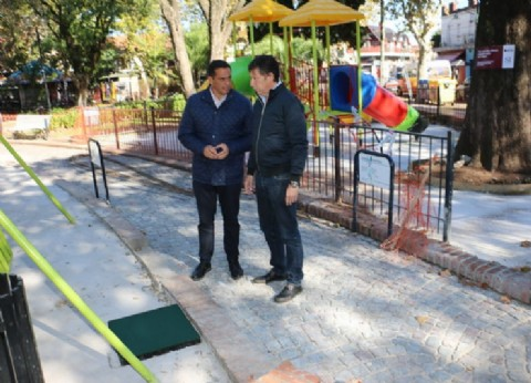 El municipio de San Isidro renueva la Plaza 9 de Julio
