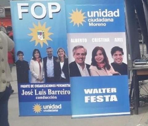 El intendente de Moreno, Walter Festa, quita de la publicidad electoral a Verónica Magario