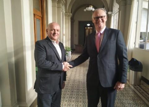 El diputado Oroño recibió al embajador de Australia en la Legislatura Bonaerense
