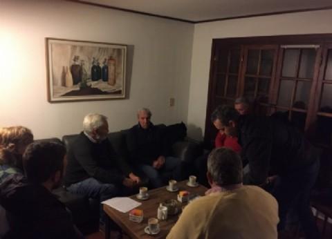 Chascomús: Battisacchi visitó el Colegio de Arquitectos