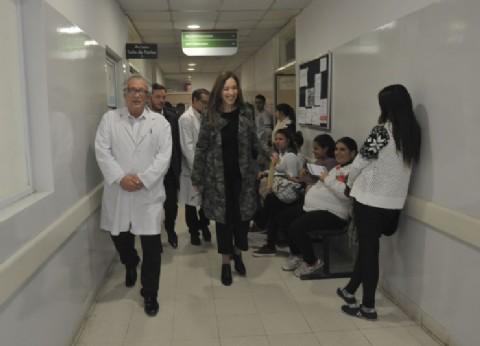 Vidal recorrió cuatro centros de salud en Ezeiza