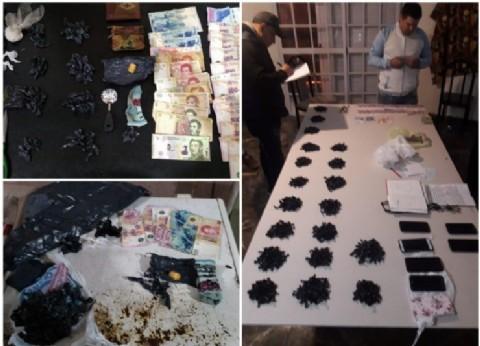 Secuestran casi 1.500 dosis de paco y cae banda narco tras múltiples allanamientos
