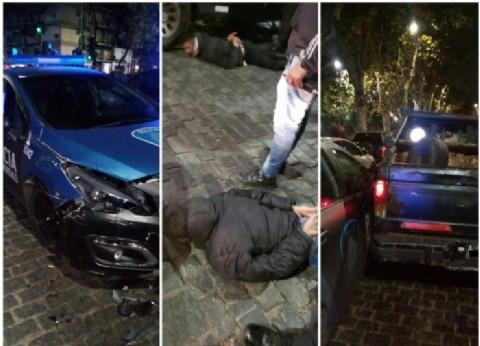 Quisieron escapar en contramano, pero se la pusieron: persecución, choque y tres detenidos en Caballito