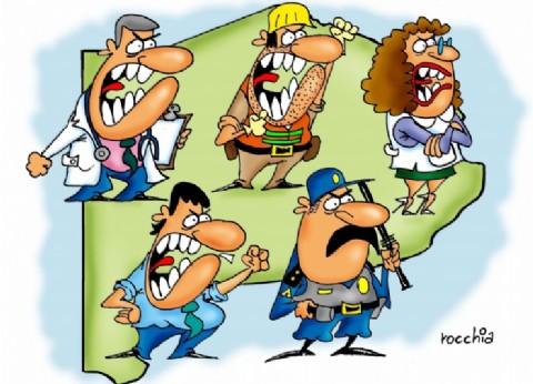 Todos enojados en la provincia de Buenos Aires