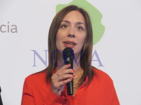 Vidal dijo presente en la inauguración de un nuevo tramo de la Ruta Nacional N°7