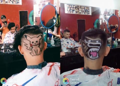 """""""Taino y Jorge"""", la barbería éxito de Paraguay por sus extravagantes cortes de pelo"""