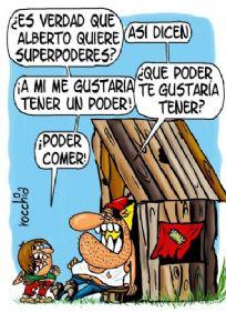 ¿Es verdad que Alberto quiere superpoderes?