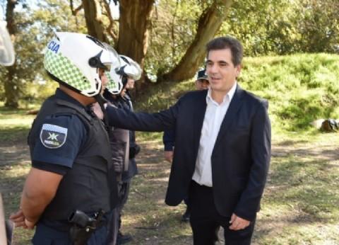 Ritondo supervisó el curso de entrenamiento continuo de la Policía de la provincia