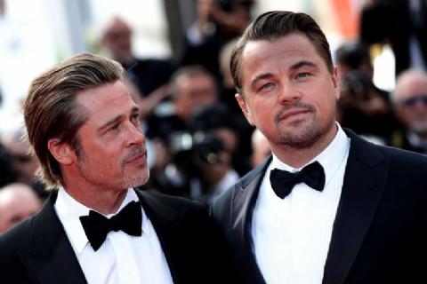 """Brad Pitt y Leo DiCaprio, """"engominados"""" en el Festival de Cannes"""