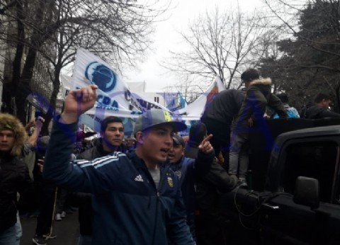UOCRA La Plata se movilizó contra los interventores y pidieron elecciones democráticas