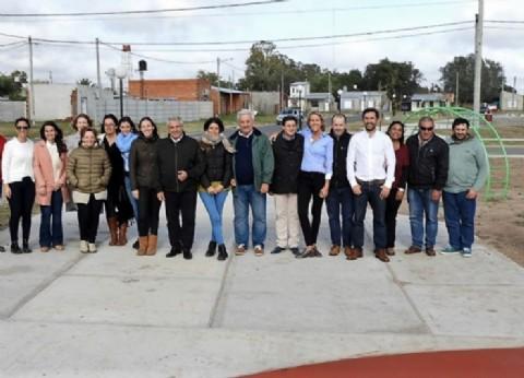 El intendente de General Villegas inauguró espacio público en el Barrio Ciclón