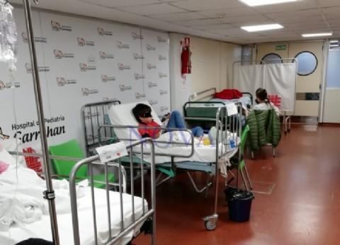 El Garrahan en emergencia: pacientes son atendidos en los pasillos del hospital