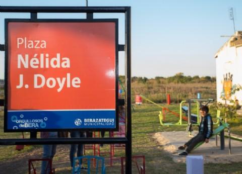 "Berazategui: se inauguró la Plaza ""Nélida J. Doyle"" en Plátanos Norte"