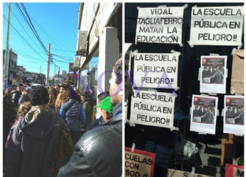 Gobernación pidió ayuda al Sindicato del Gas por las escuelas de Morón, mientras alumnos exigen la renuncia de Traverso