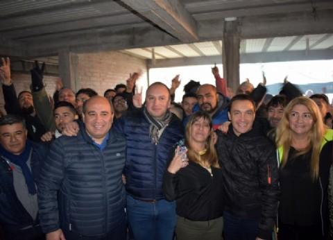 El intendente de Florencio Varela se reunió con marítimos del SOMU