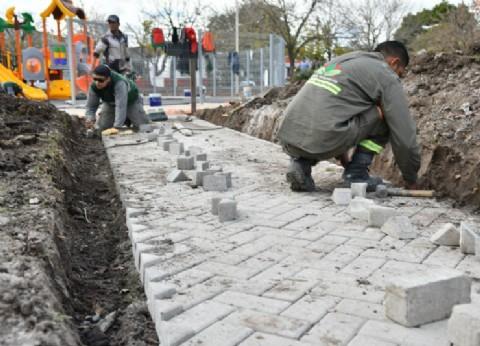 Esteban Echeverría: avanza el embellecimiento de la Plaza de la Cultura