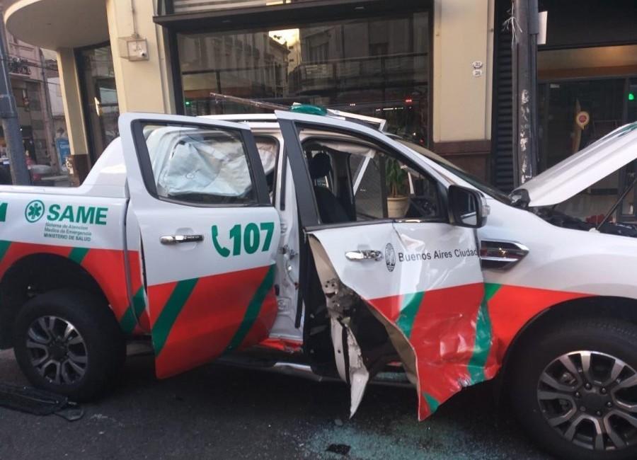 Chocó auto del SAME que trasladaba a Alberto Crescenti