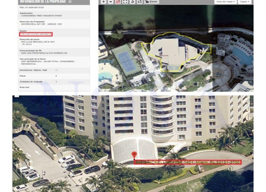 La propiedad de Honoria en Miami. (Foto: NOVA)