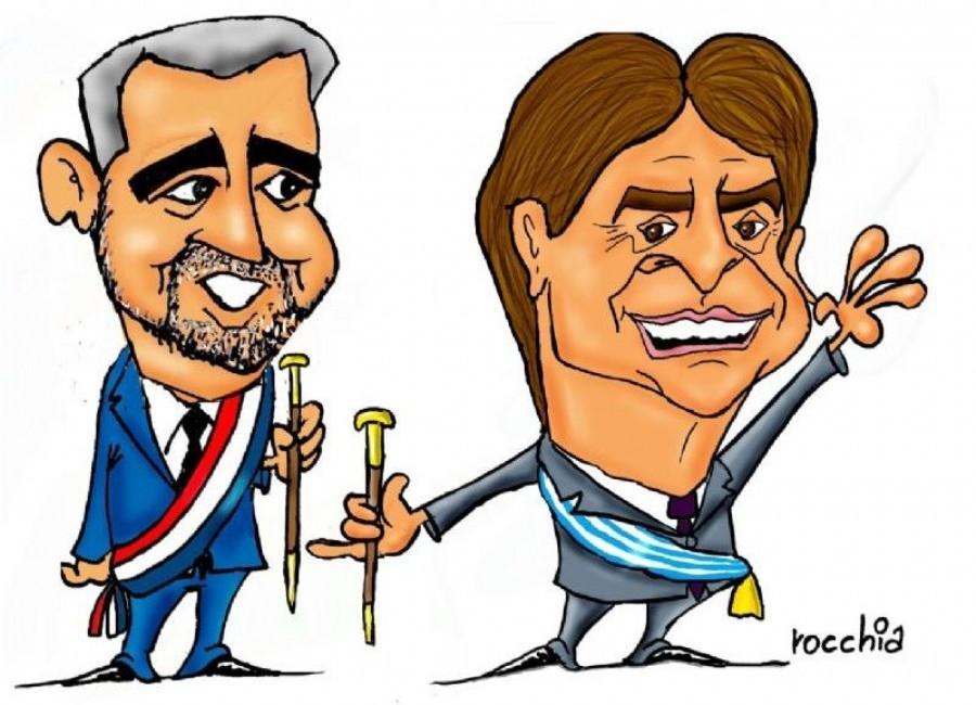 """Abdo Benítez le propone una """"alianza estratégica"""" a Lacalle Pou en medio de las tensiones con Argentina"""